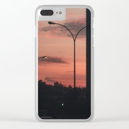 Blurry sunset Clear iPhone Case