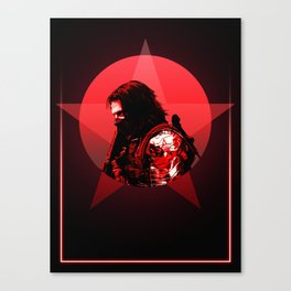 Winter Soldier 80's Alternative Character Poster Canvas Print