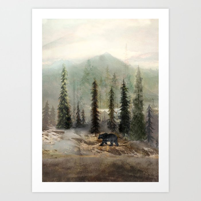 Mountain Black Bear Art Print