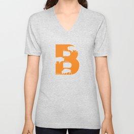 B is for Bison - Animal Alphabet Series Unisex V-Neck