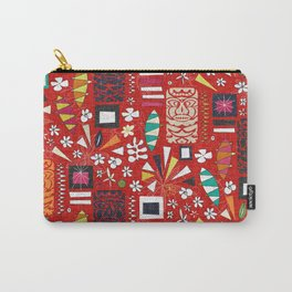 tiki red Carry-All Pouch