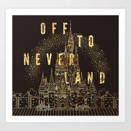 Off to Neverland Art Print