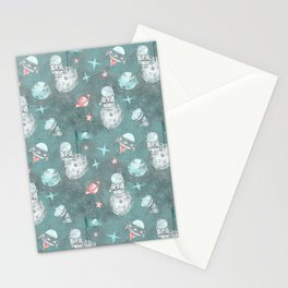 Moon landing blue Stationery Cards