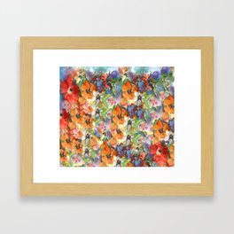 Poppies and Wildflower Impressions Framed Art Print
