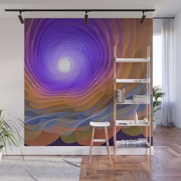 Whispering water and a blue moon Wall Mural