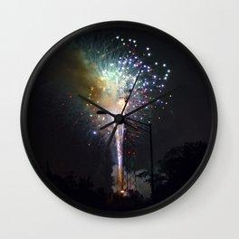 Fireworks II Wall Clock