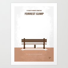No193 My Forrest Gump minimal movie poster Art Print