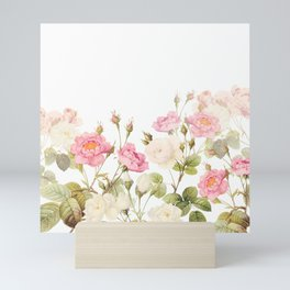 Vintage & Shabby Chic - Sepia Roses Garden Mini Art Print
