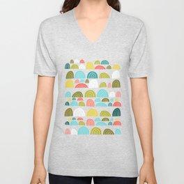 stone rainbows color Unisex V-Neck