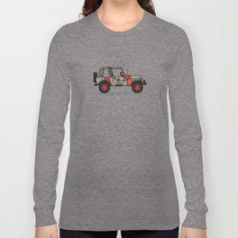 Jurassic Park Jeep Long Sleeve T-shirt