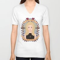 heymonster V-neck T-shirts featuring Buffy Summers by heymonster