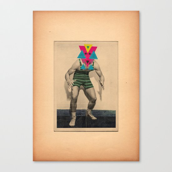 Il lottatore di altri tempi Canvas Print