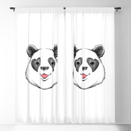 Panda Love Blackout Curtain