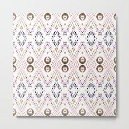 Ikat Java Rose Metal Print