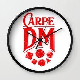 Carpe DM Tabletop Gaming Gift Dragons D20 Dice Set Print Wall Clock