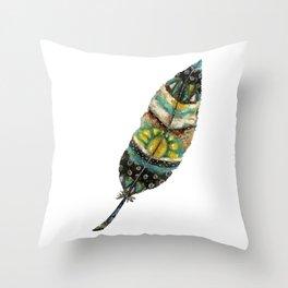 Sunrise Feather Throw Pillow
