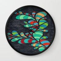 dr seuss Wall Clocks featuring Dr. Seuss 2 by Sarah J Bierman