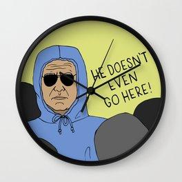 Biden Trolls Trump Wall Clock