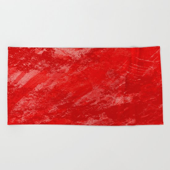 Love And Fury - Abstract painting in red Beach Towel