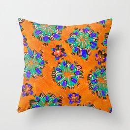Orange Sundial Throw Pillow