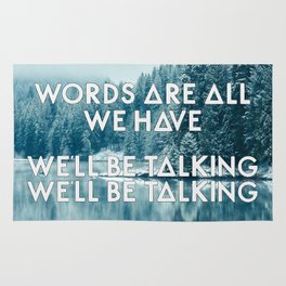 Bastille - Overjoyed #3 (Words Are All We Have, We'll Be Talking, We'll Be Talking) Rug