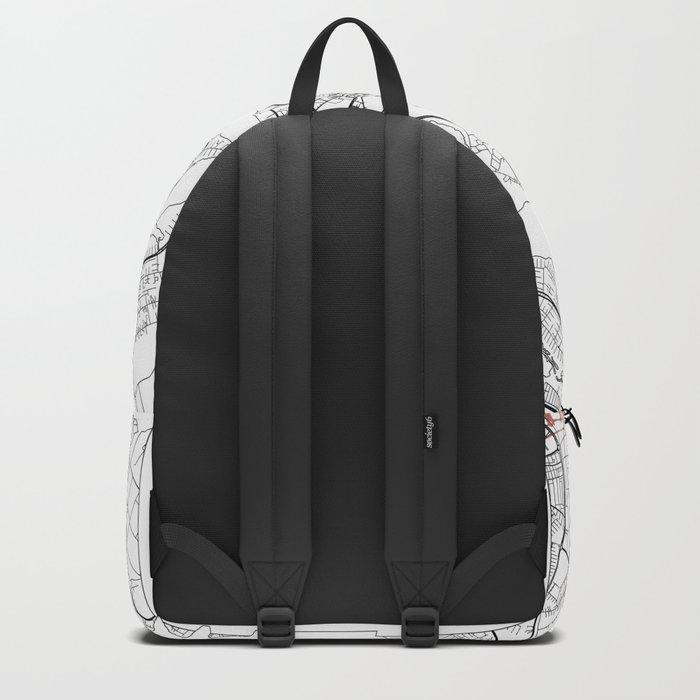 Brasilia Map White Backpack