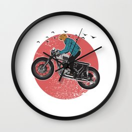 CHEETAH RIDER Wall Clock