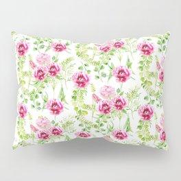 Watercolor Flower and leaf design, Floral pattern, nature art watercolor art beautiful floral design Pillow Sham