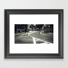 crossing the lines Framed Art Print