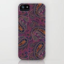 Meredith Paisley - Eggplant Purple iPhone Case