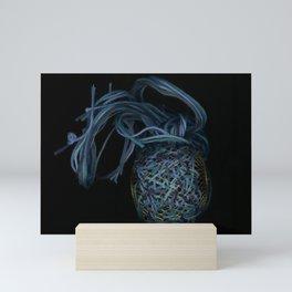 Sea Creature shades of blue surreal Mini Art Print