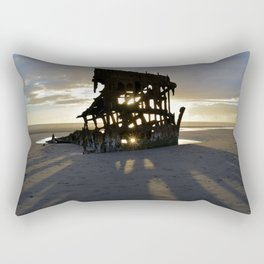 Wreck of the Peter Iredale at sunset Rectangular Pillow