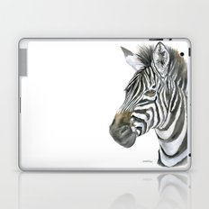 Zebra Watercolor Painting - African Animal Painting Wildlife Head Bust Laptop & iPad Skin