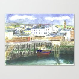 Peel Harbour Isle of Man Canvas Print