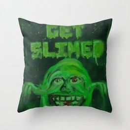 Slimed! Throw Pillow