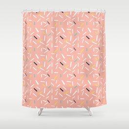 confettie pattern pink Shower Curtain