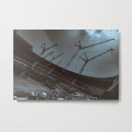 Tokyo National Olympic Stadium Under Construction 2018 Metal Print
