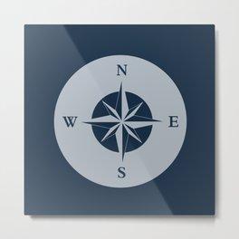 Nautical Compass Metal Print