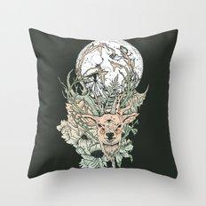 D E E R M O O N Throw Pillow