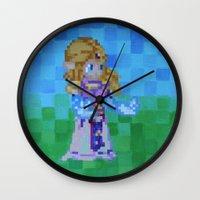 8bit Wall Clocks featuring 8bit Zelda by Cariann Dominguez