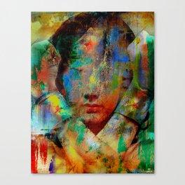 Wonder who ? Canvas Print