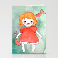 ponyo Stationery Cards featuring Ponyo by munieca
