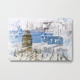 City Art WESTMINSTER Collage Metal Print