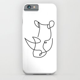 rhino one line - menace iPhone Case