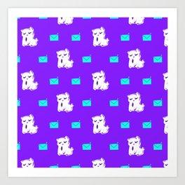 Kitty Mail - Pattern Art Print