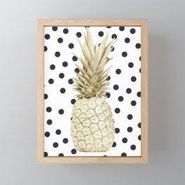 Pineapple Polka Dots Framed Mini Art Print