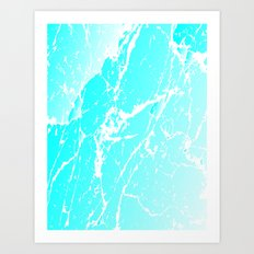 Cracked Ice Art Print
