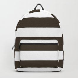 Jacko bean - solid color - white stripes pattern Backpack