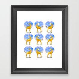 Dance of the Giraffes Framed Art Print