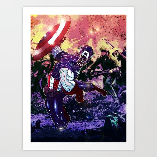 Captain America Art Print